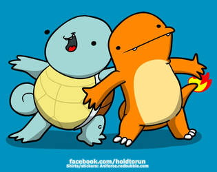 Charmander and Squirtle! Bestests of friends! by Aniforce