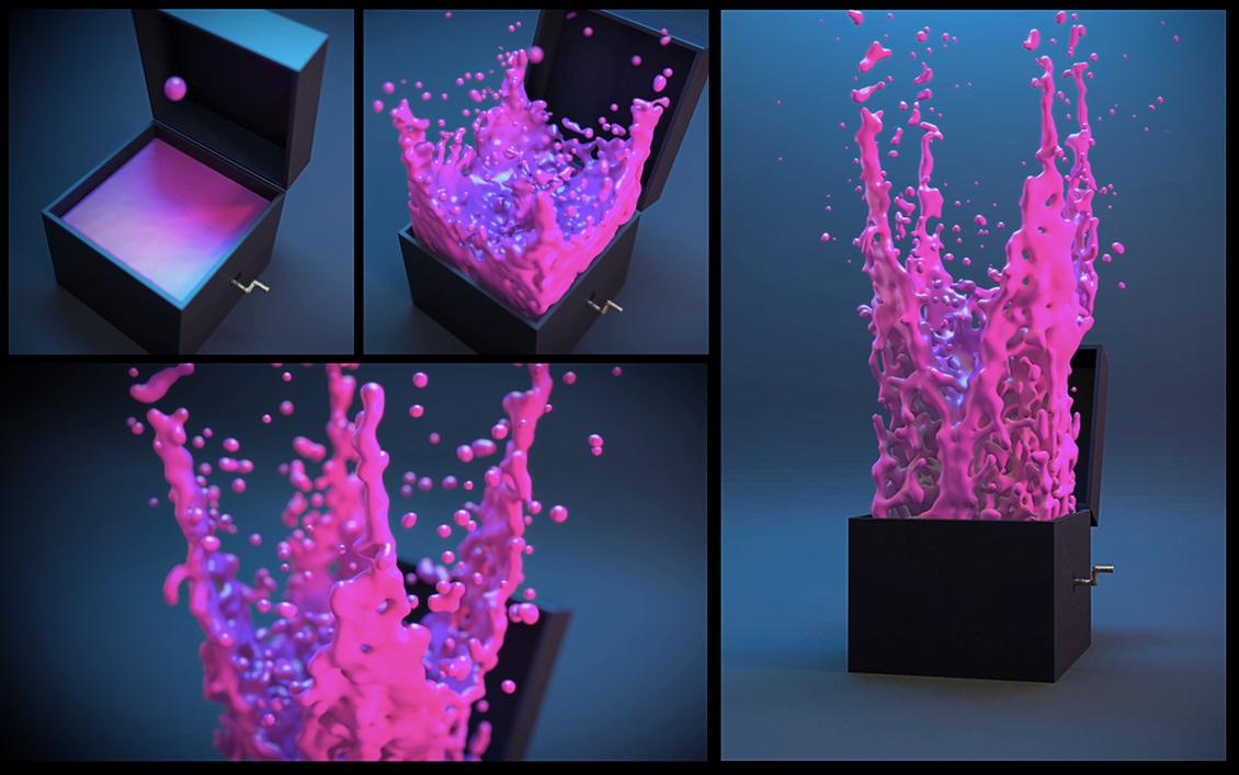 Splashing paint by martin8910