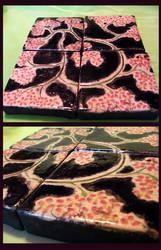 Raku Cherry Blossom Tile Set by LinksLove