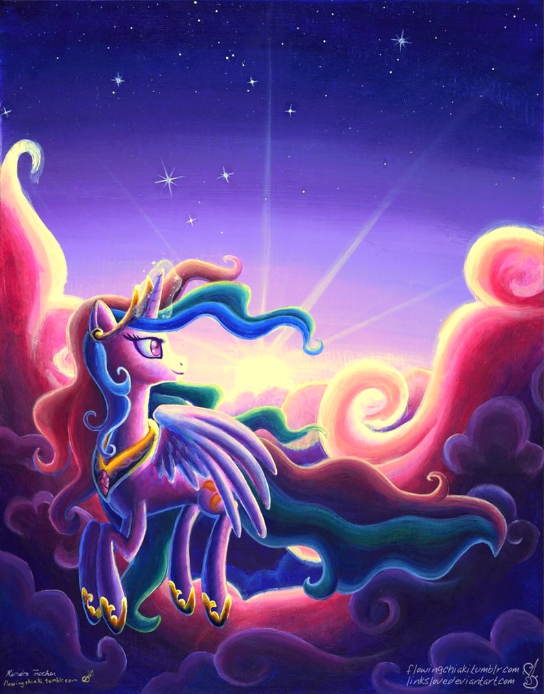 Sunrise Over the Clouds by LinksLove