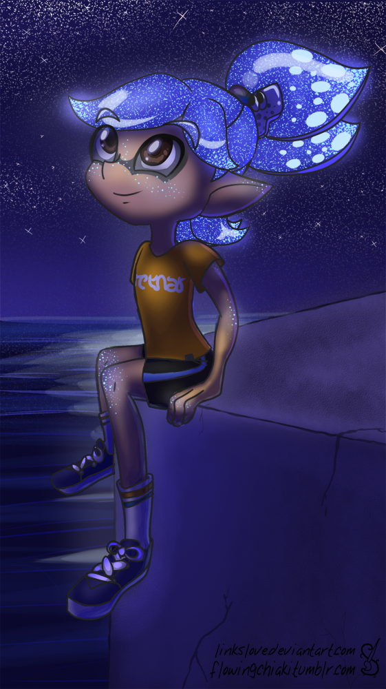 Starry Sky, Starry Squid by LinksLove