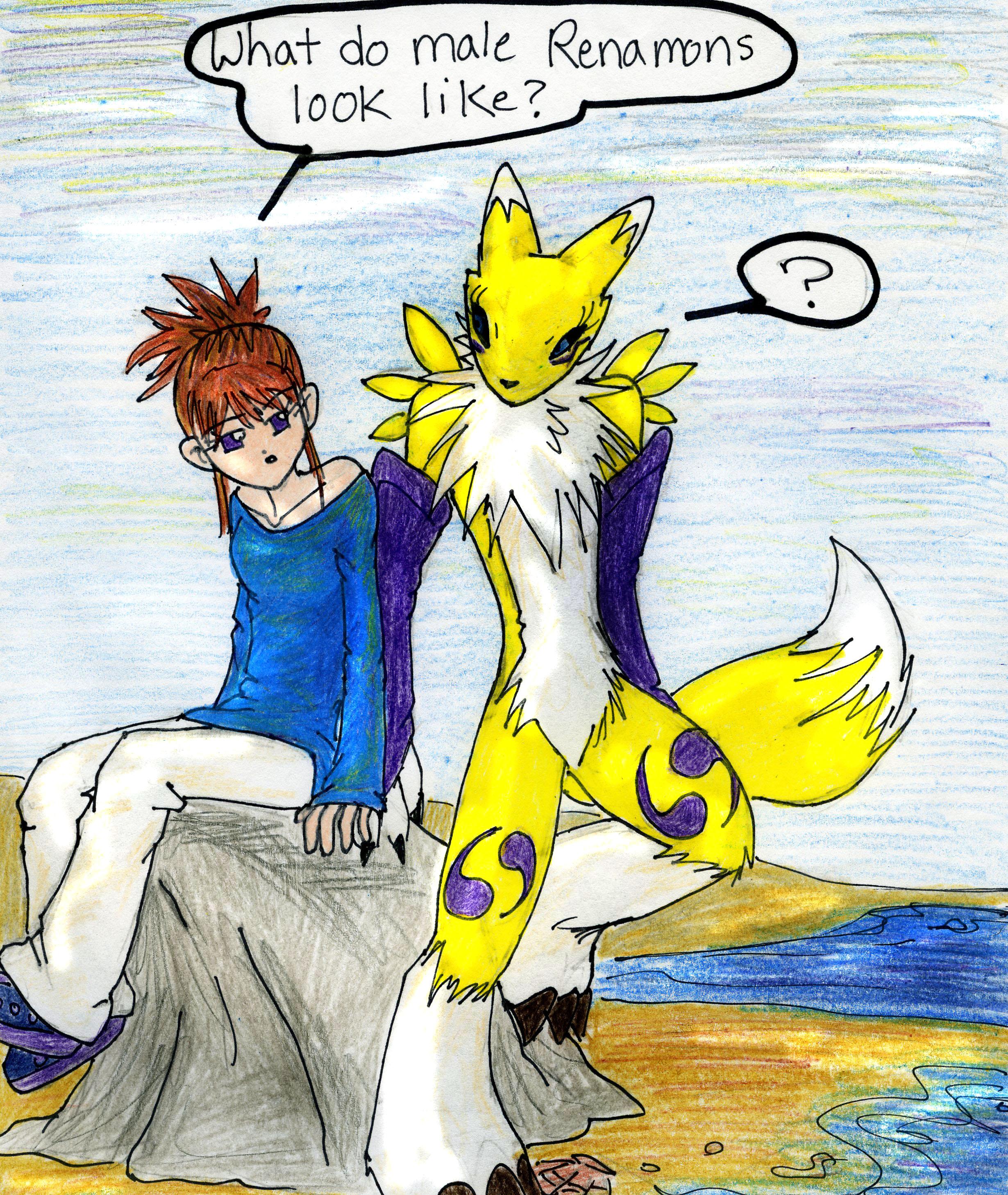 Digimon Renamon Hot