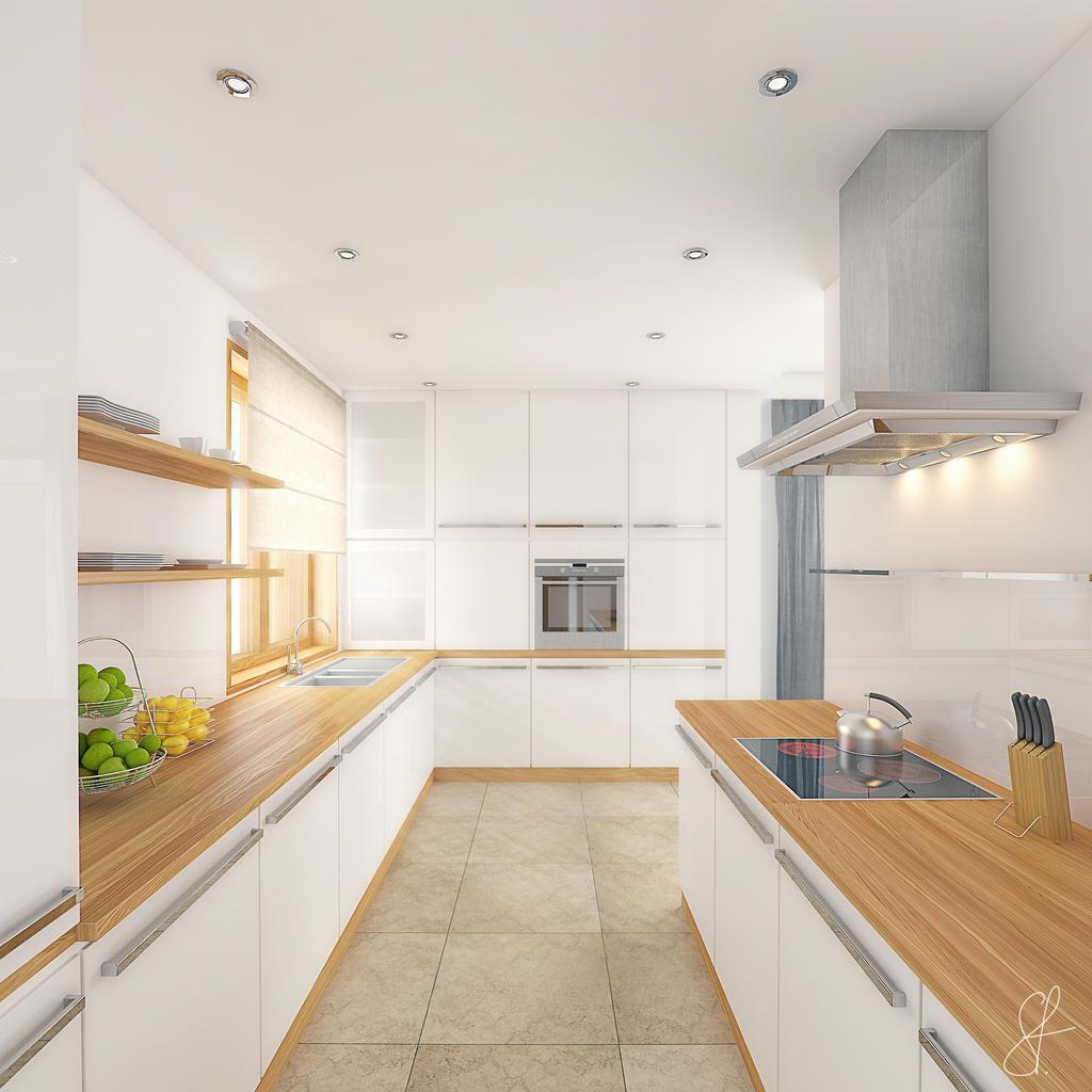 modern kitchen by evilios