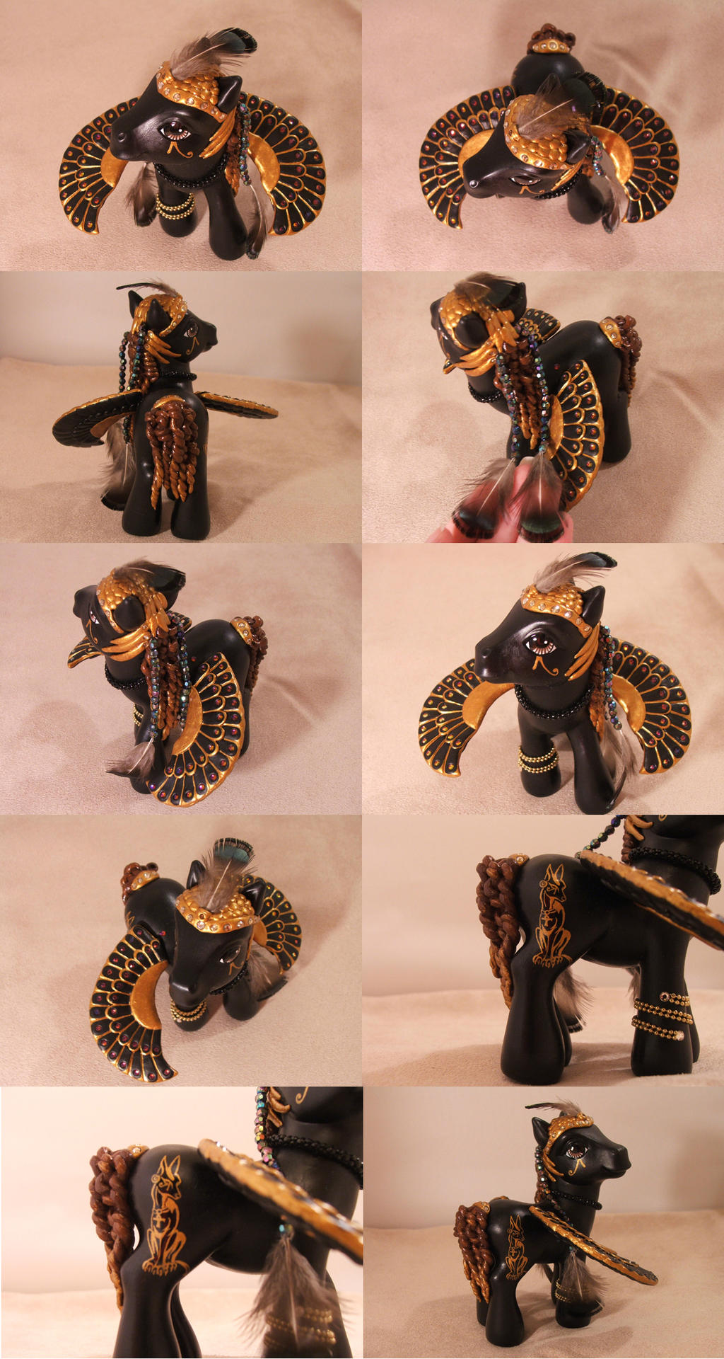 Anubis Egyptian mlp by lovelauraland