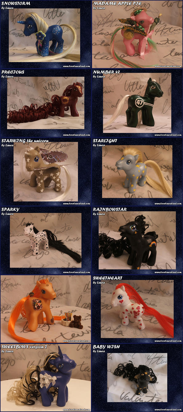 Random Ponies by lovelauraland