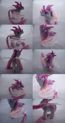 Pink Frost Dragon commission by lovelauraland