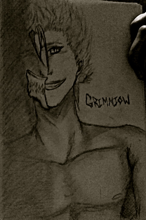 Grimmjow's Shadow by cheshirecastiel