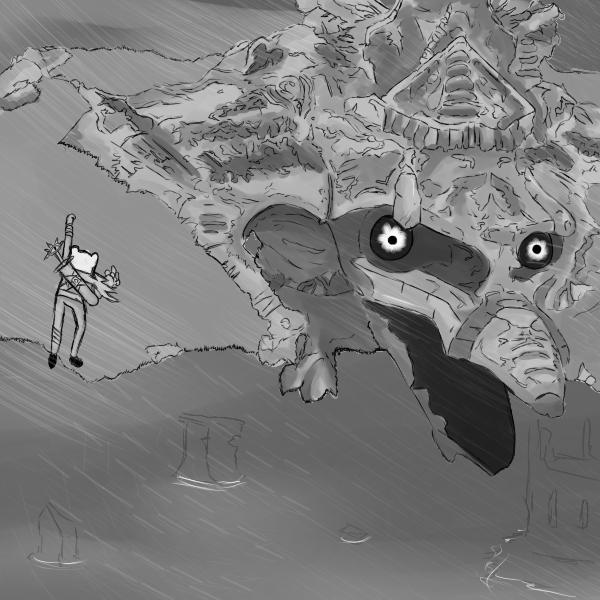 Hero Finn vs Colossus by fallenjrblue