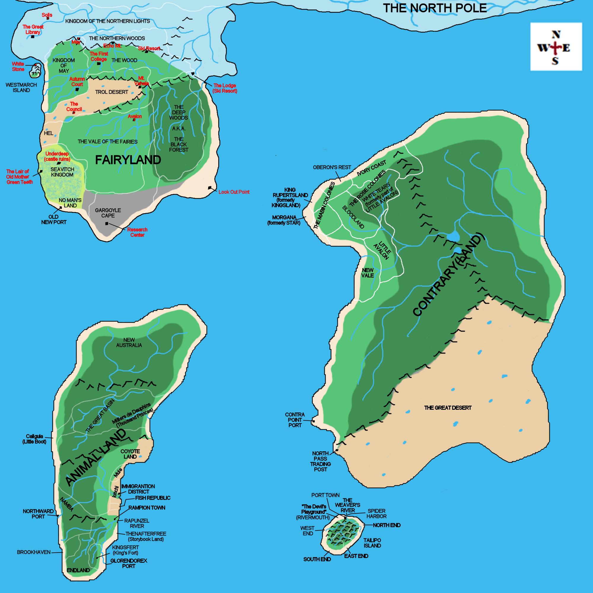 Fairyland world map by ms draca on deviantart fairyland world map by ms draca gumiabroncs Images