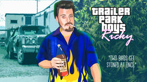 Ricky Trailer Park Boys GTA Loading Screen Art