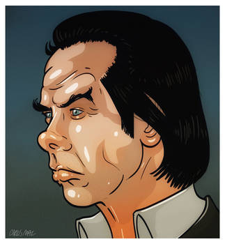 Nick Cave portrait, the end of 2012 by thecarlosmal