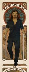 A Mucha Self-Portrait by thecarlosmal