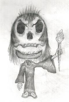 Long Haired Cloak Skull