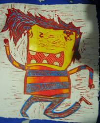 coloured in kidsam print