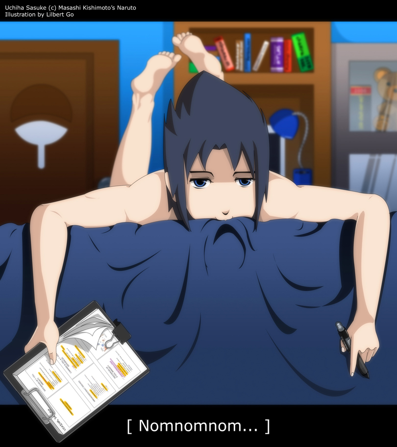 Sasuke's Study Time by mingresque on DeviantArt