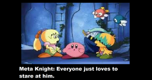 Meta Knight's stare O_O by Skitty-Kirby