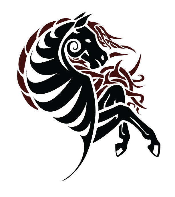 Tattoo Simple Design Wallpaper: Horse Tattoo 3: Simple Digital By CoyoteHills On DeviantArt