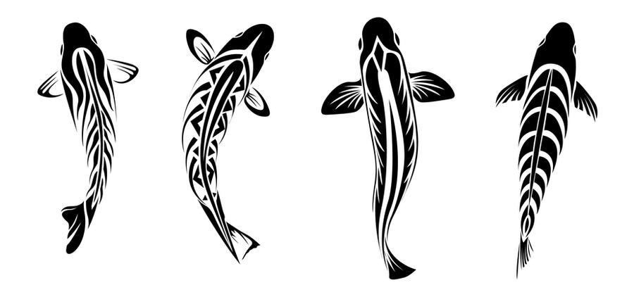 koi fish tribal tattoos on Koi DeviantArt Tattoos CoyoteHills Tribal by