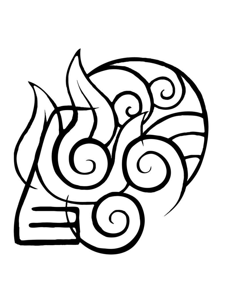 avatar elements tattoo by coyotehills on deviantart. Black Bedroom Furniture Sets. Home Design Ideas