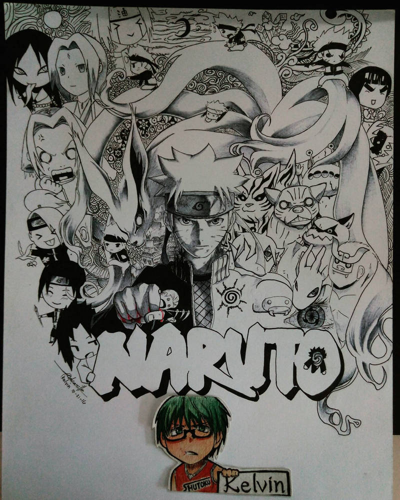 Naruto anime doodle by zentrix09