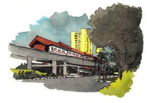 Bukit Gombak MRT station (9 Feb 2015)