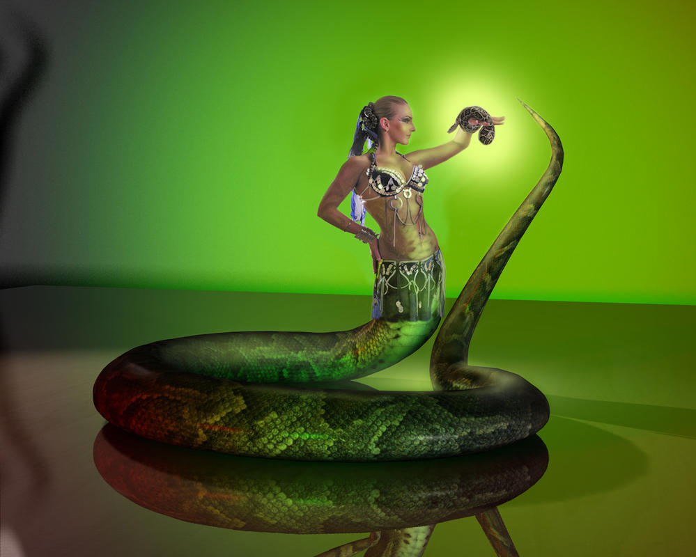 Exotic Snake Woman by mythster-seven