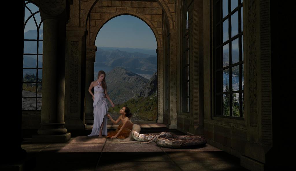 Begging Naga by mythster-seven
