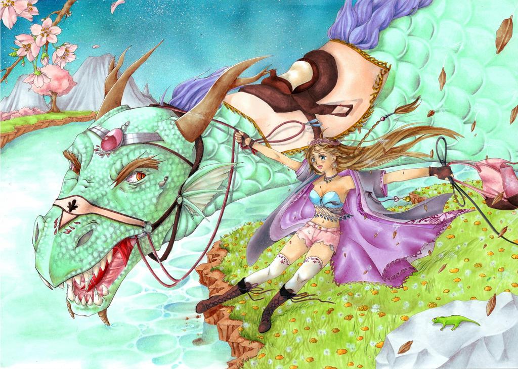 Dragon flight by xEspoirx