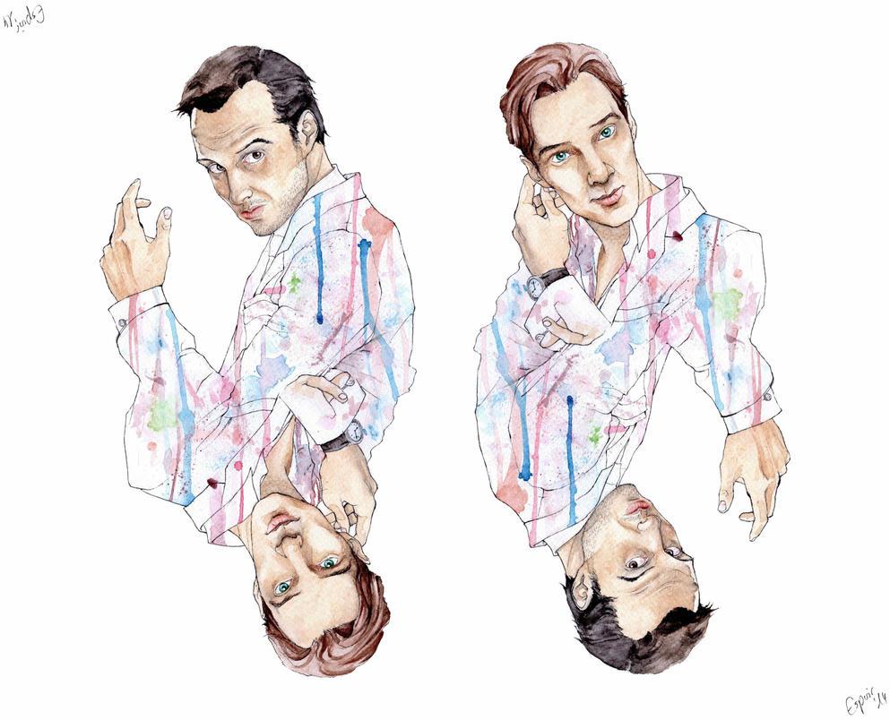 Sherlock vs. Moriarty by xEspoirx