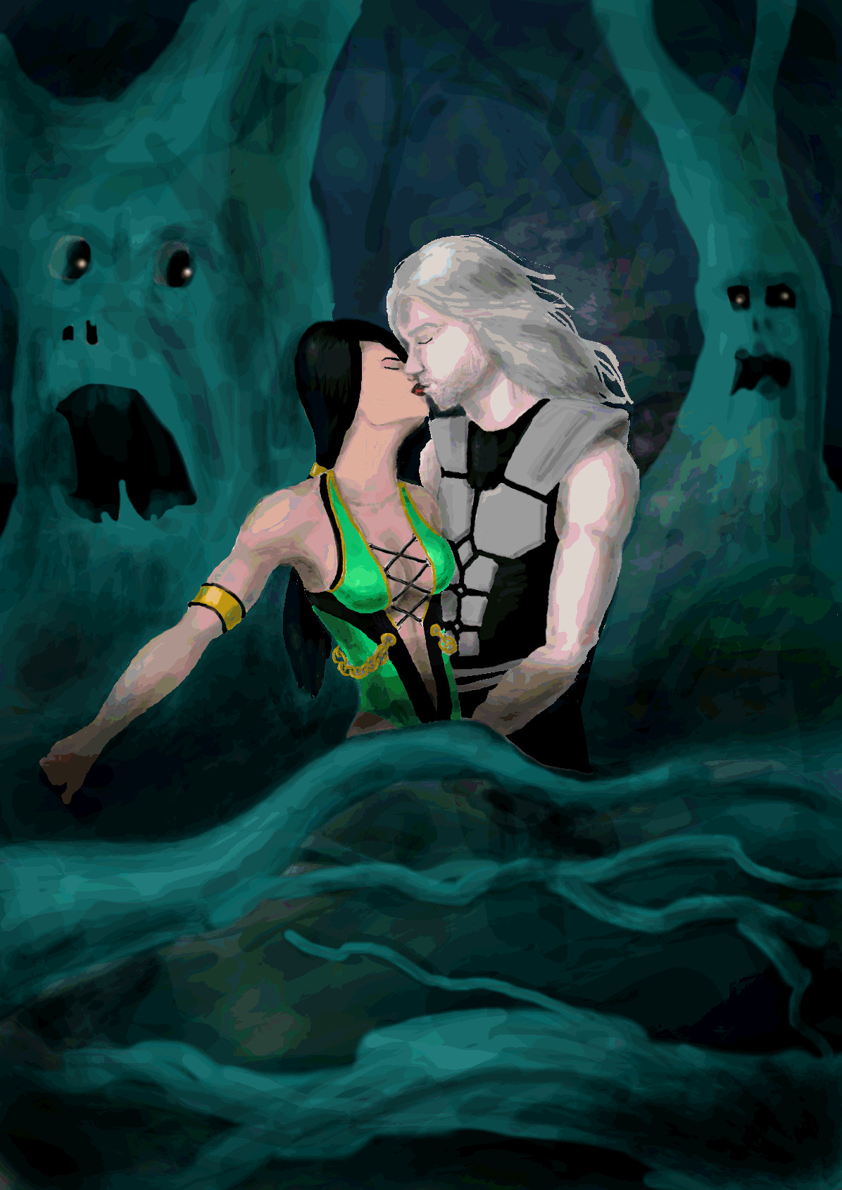 jade and smoke kiss by levonharutunyan on deviantart