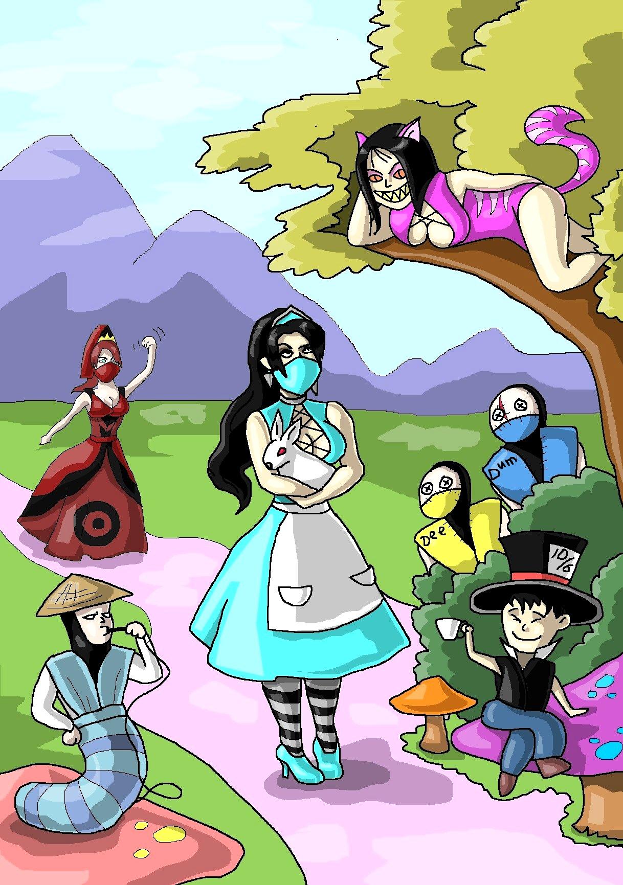 Kitana as Alice in Wonderland by Levon-Harutunyan on