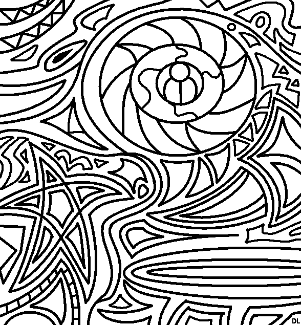 Abstract Drawing Using Lines : Abstract lineart by drachenlilly on deviantart