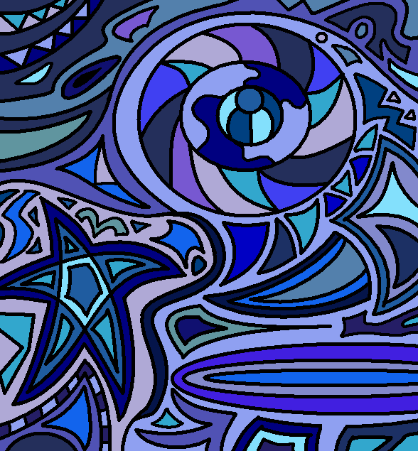 Abstract Line Art Paintings : Abstract lineart color by drachenlilly on deviantart