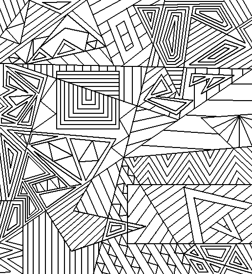 D Shape Line Drawings : Abstract lineart by drachenlilly on deviantart