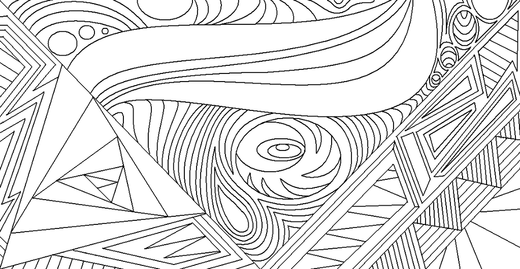 Abstract Line Art Paintings : Abstract lineart by drachenlilly on deviantart