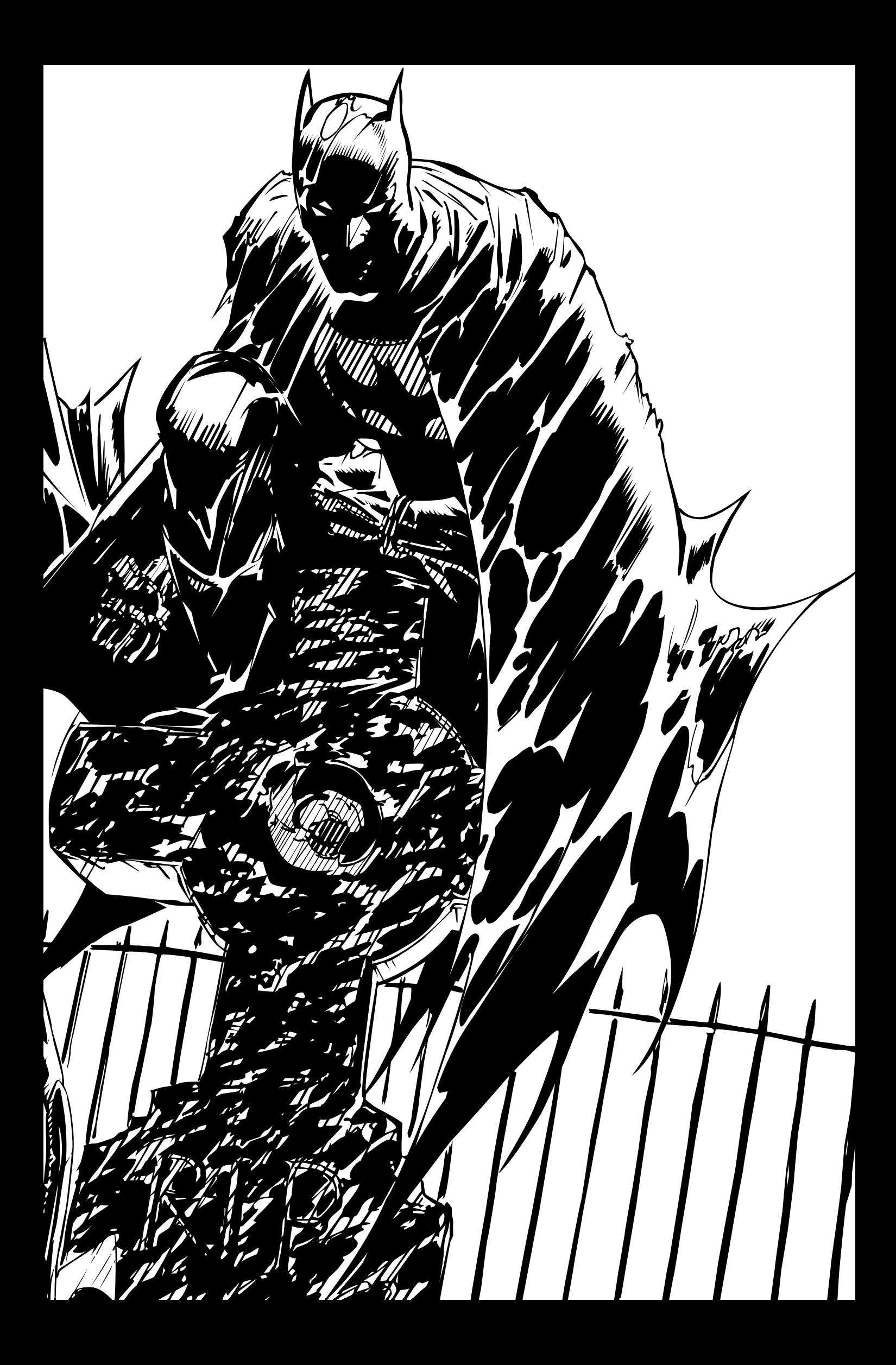 Batman B+W by Ao-Li