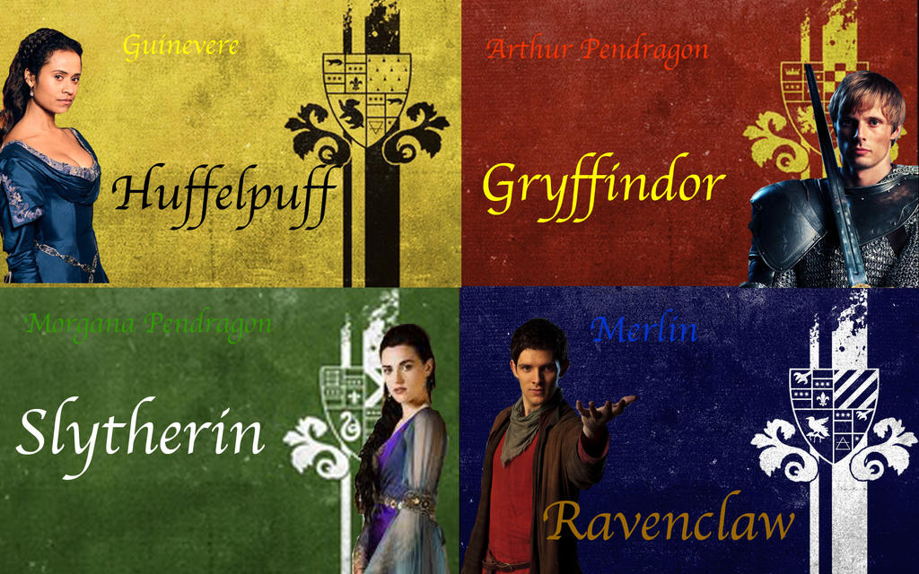 Merlin-Hogwarts Founders by KatePendragon on DeviantArt