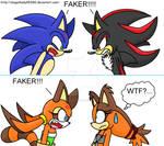Marine, Sticks, Shadow and Sonic - FAKER!!!!