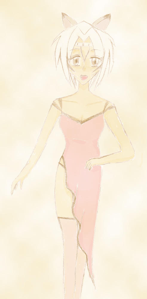 Meia wearing a dress
