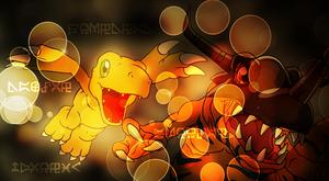 Efectos Photoshop Digimon
