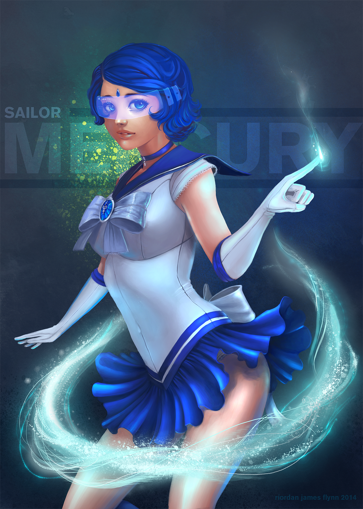 Sailor Mercury by riordan-j-flynn