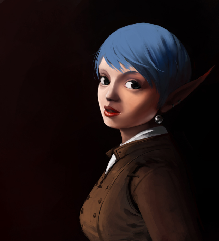 The Kender With The Pearl Earring by James-S-Flynn