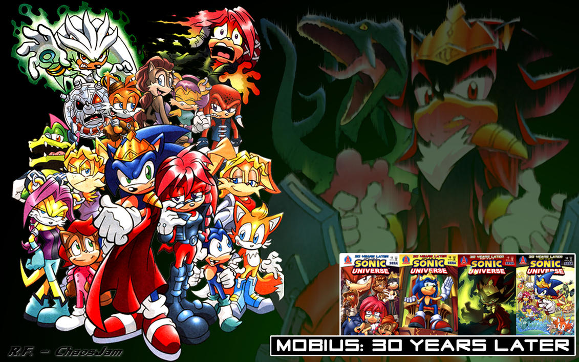 Cartoon Characters 30 Years Later : Sonic universe mobius yl by chaosjam on deviantart