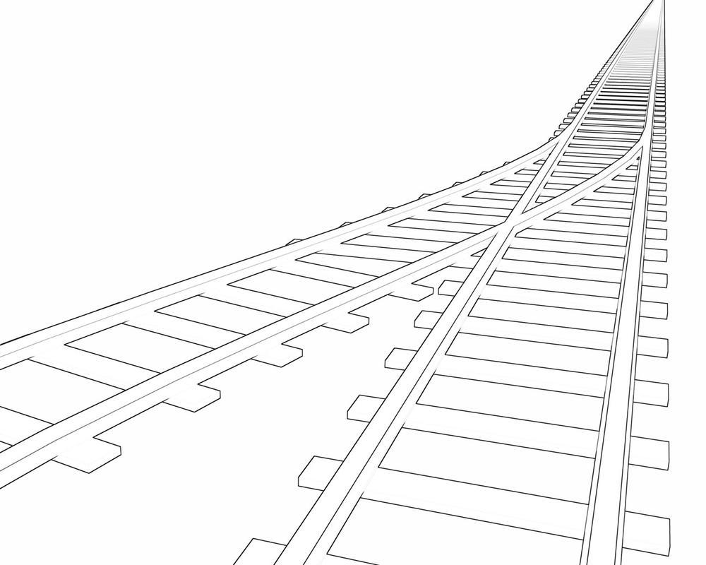 Line Drawing Train : Line drawing railroad tracks gallery