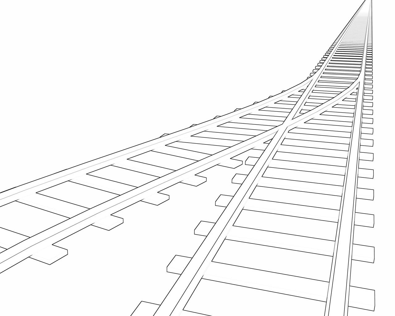 Drawing Lines With Polar Tracking : Railroad track by suckup on deviantart
