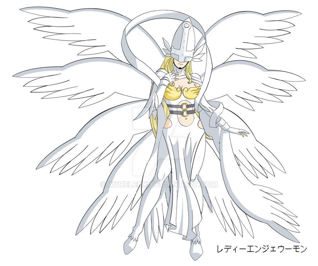Lady Angewomon - a redesign by Elizabeth2003