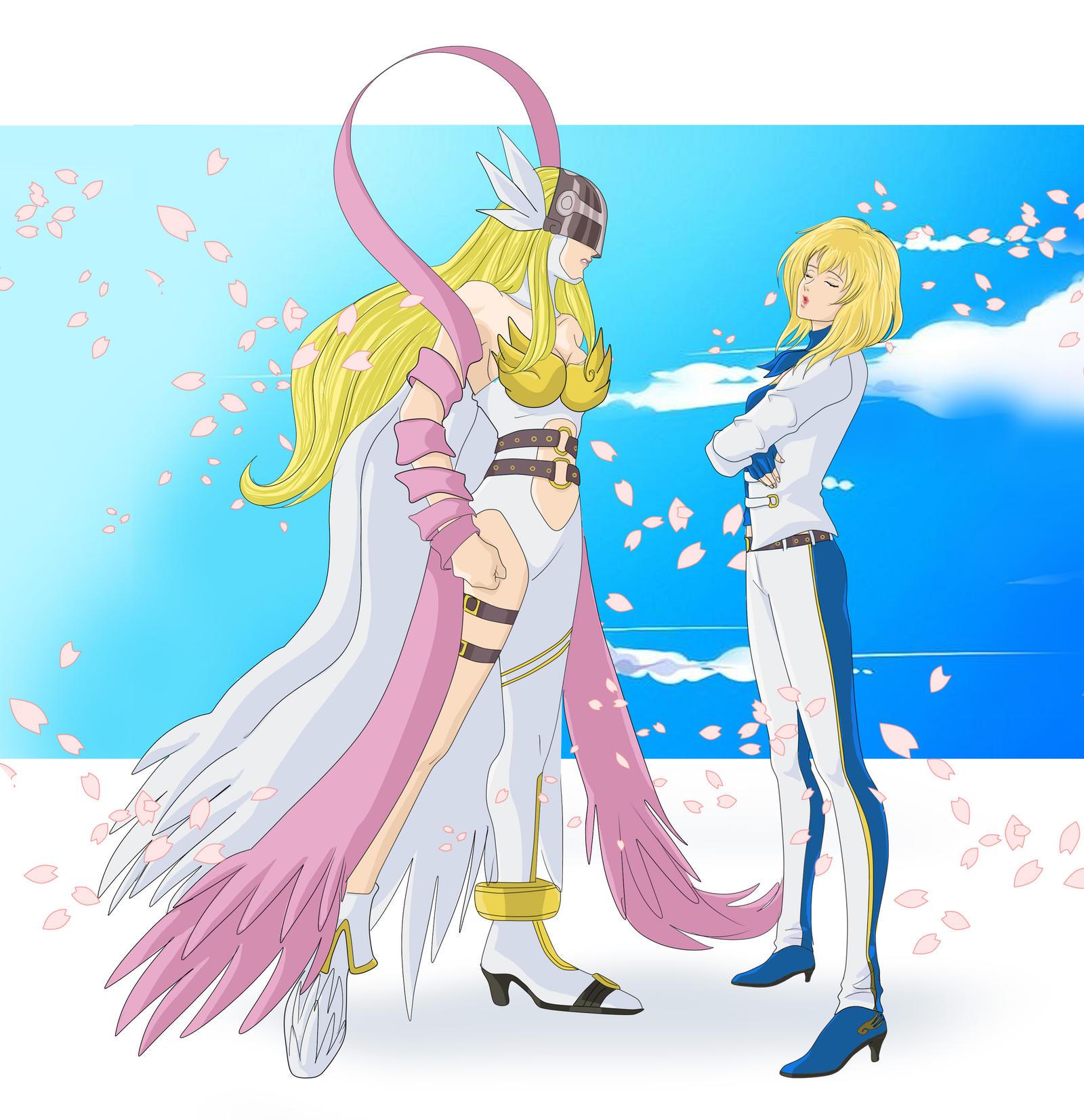 Angewomon meets her human self – Digimon Infinity