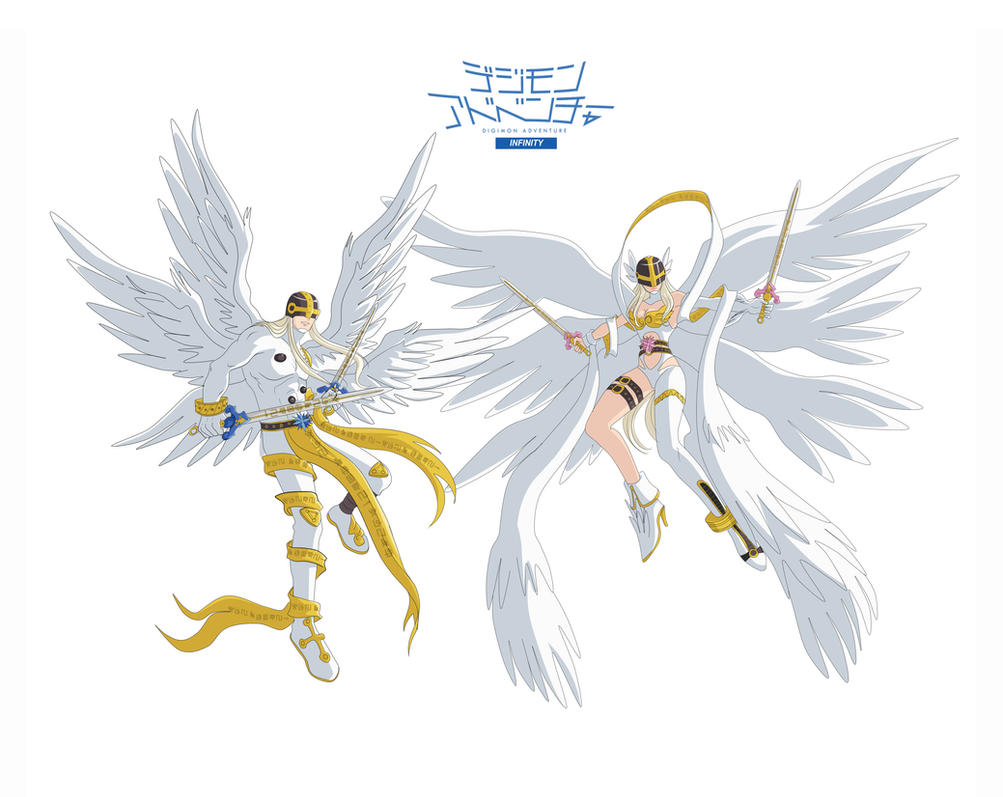 Angemon and Angewomon from Reality XII by Ayhelenk