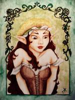 Elf With Flower Hat by LyraaLanquia