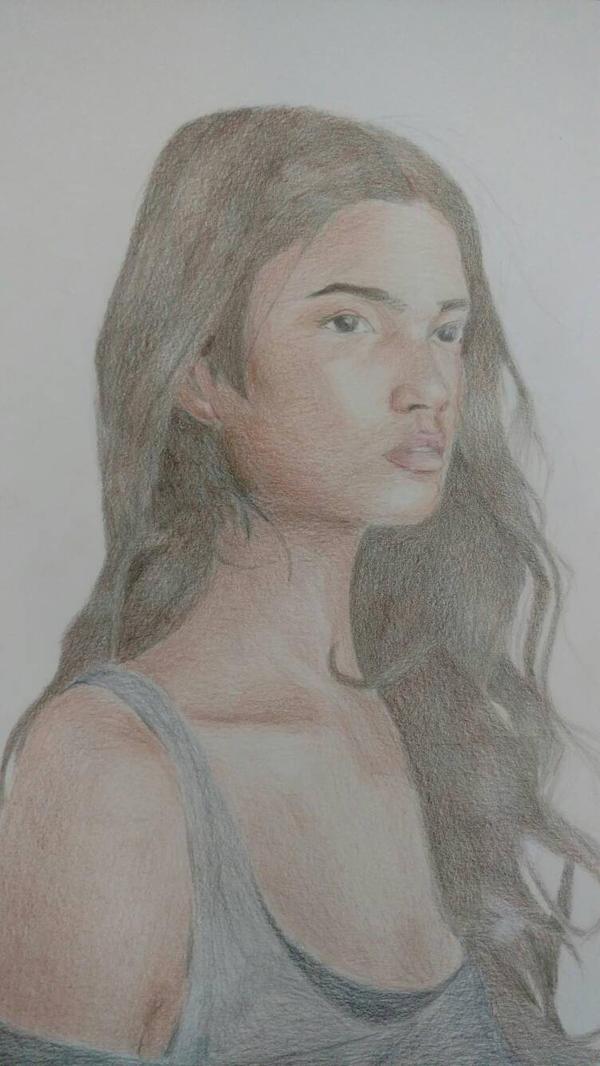 Colored pencil portrait by Espiol